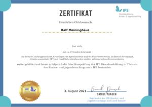 IPE Zertifikat